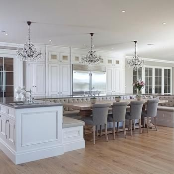 Banquette Seating off Island