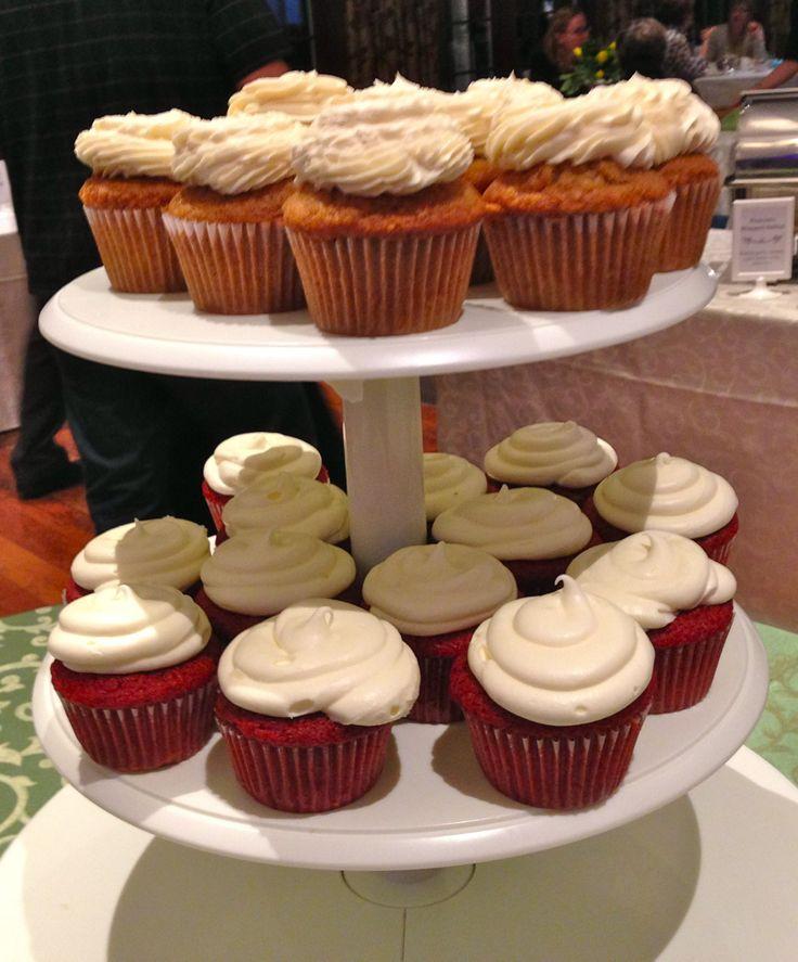 Red velvet cupcakes at Copetown Woods Wedding Tasting
