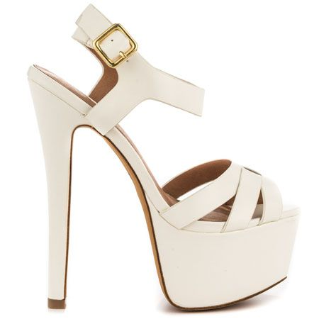 "Jayme - White Fx by Zigi Soho 7"" heel and 2.5"" platform"