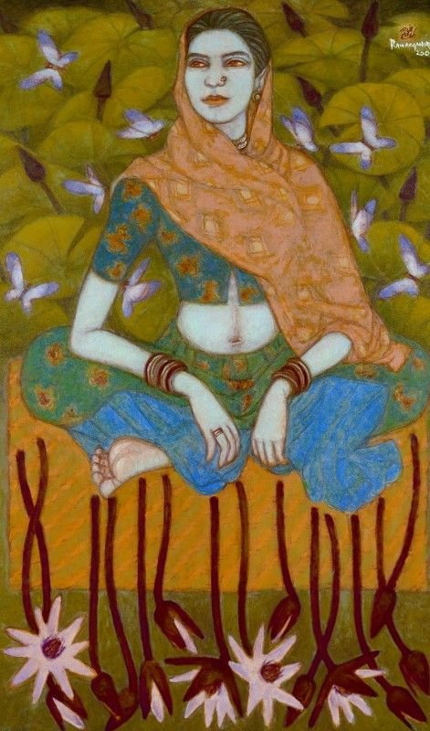 1076 best images about indian art on pinterest indian for Asha ramachandran mural painting