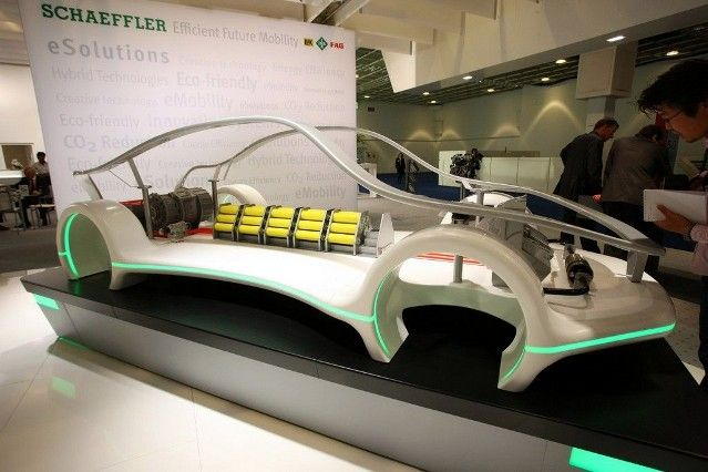 Schaeffler Group >> The Concept Car eSolutions presents a selection of Schaeffler products on the topic of electromobility. The Concept Car Advanced Drive displays products for efficient propulsion today and tomorrow.
