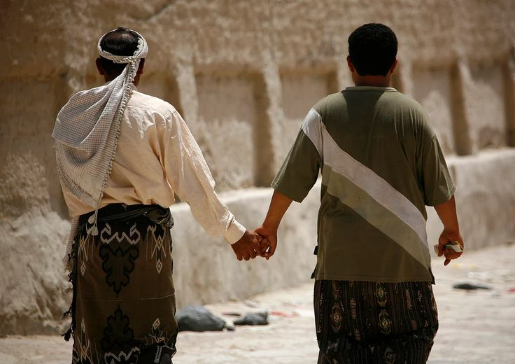Love this!  In many Muslim countries, two men holding hands is a sign of friendship.  Have a great working week #FilmLovers