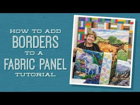 How to Add Borders to a Quilt Panel - YouTube