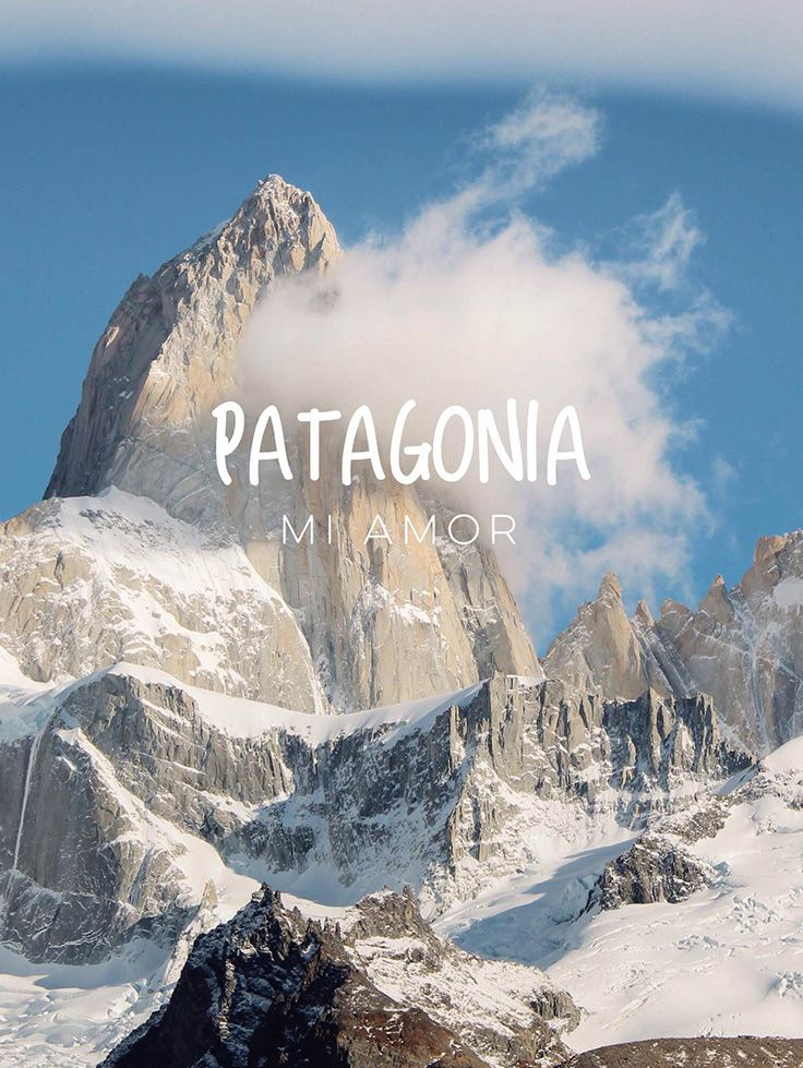 Inspiration voyage : Patagonia mi amor #voyage #Argentine #Chili