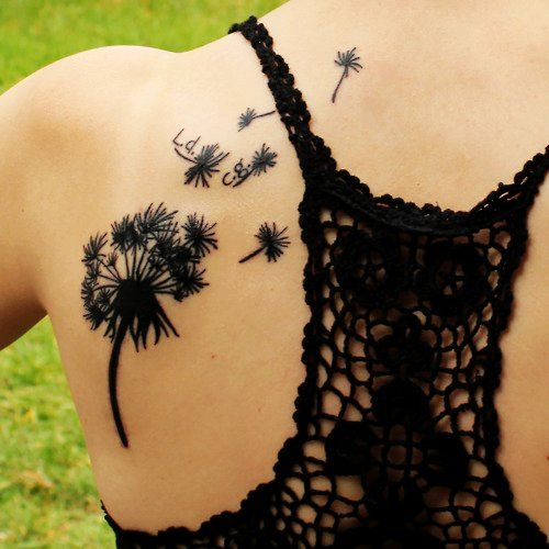 dandelion flower tattoos for women  (@Skye James James James James James Cardona because you love them!)