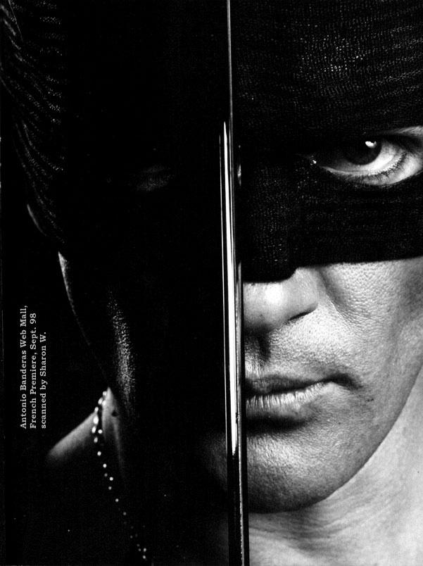 photo noir et blanc : cinéma, Antonio Banderas , El Zorro