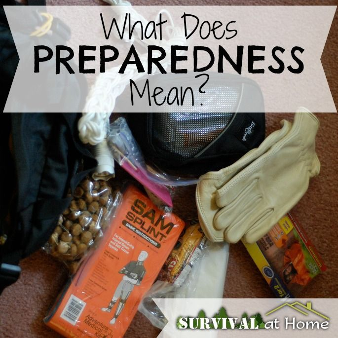 What Does Preparedness Mean?