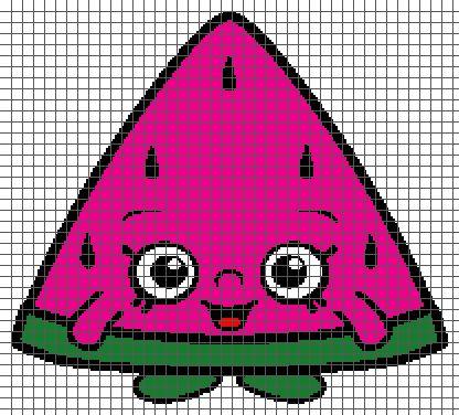(4) Name: 'Crocheting : Melonie Pips - Shopkins