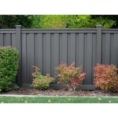 x 8 ft winchester grey woodplastic composite privacy fence panel the home depot
