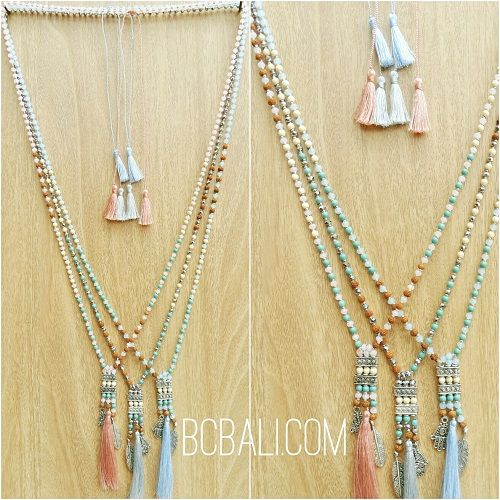 tassels necklaces charms crystal beads indian style - tassels necklaces charms crystal beads indian style