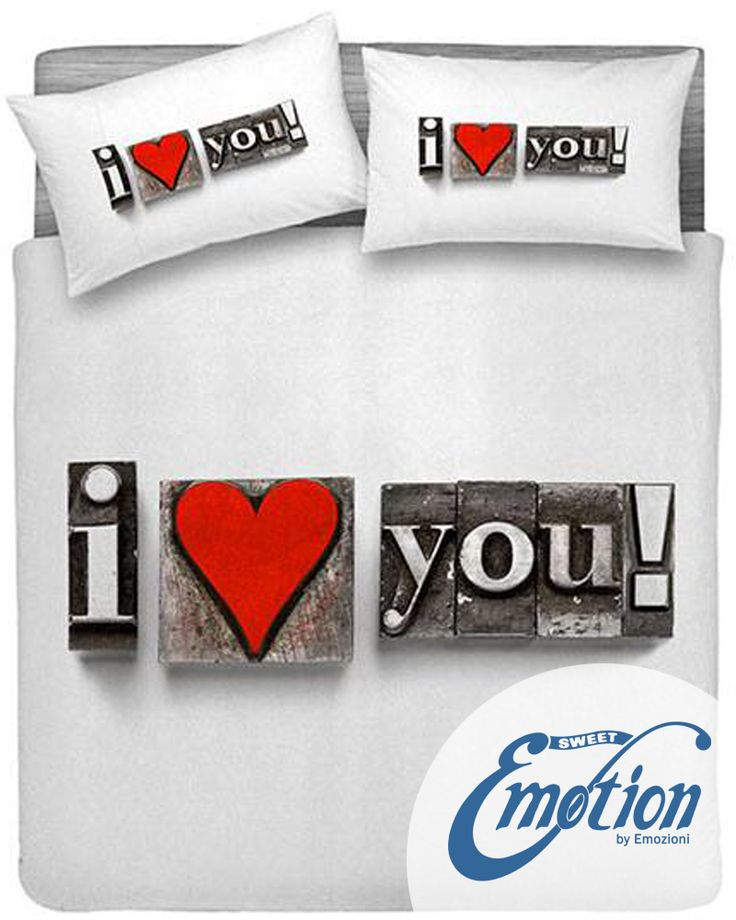 #Digital #Dream // Variante #love #lenzuola #coppiafedere  #trapunta  www.sweet-emotion.it