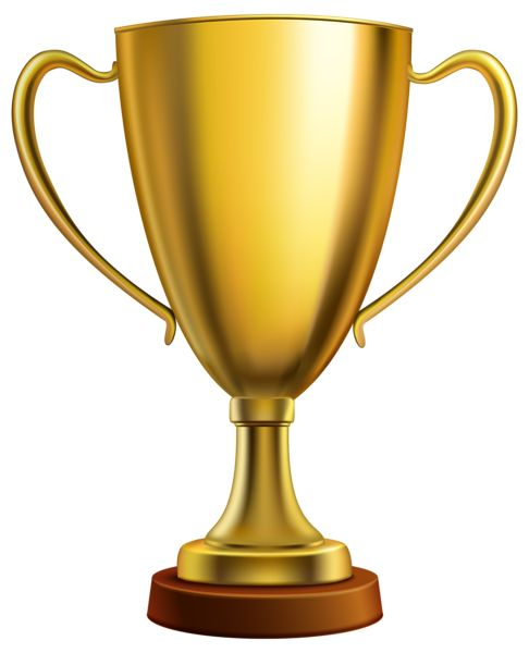 Gold Cup Trophy PNG Clipart Image