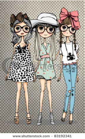 """★彡(*☻-☻*) friendly girl illustration--Bellos ojos, mas bellos si ven bien. Controlate cada año. Lee en nuestro blogspot """"Descansar frente a la PC """" y otros-----"""