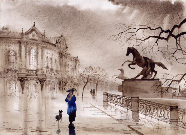 Очень понравились замечательные городские пейзажи современного дуэта художников из Санкт-Петербурга САБИРА и СВЕТЛАНЫ ГАДЖИЕВЫХ. На них изображен, прежде всего, их родной город, но узнаваемы также виды Праги и Венеции.   Предлагаю их вашему вниманию.  …