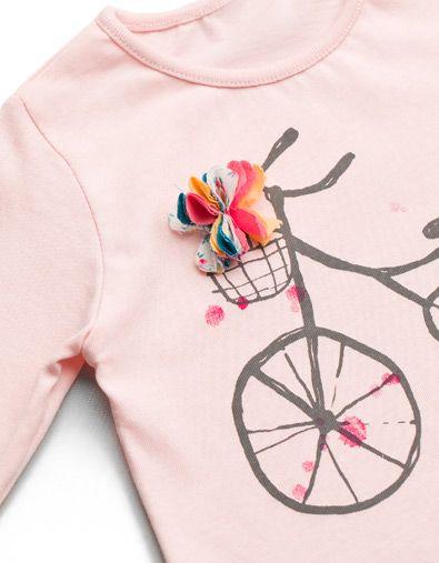 BIKE WITH FLOWERS T-SHIRT - T-shirts - Baby girl (3-36 months) - Kids - ZARA United States