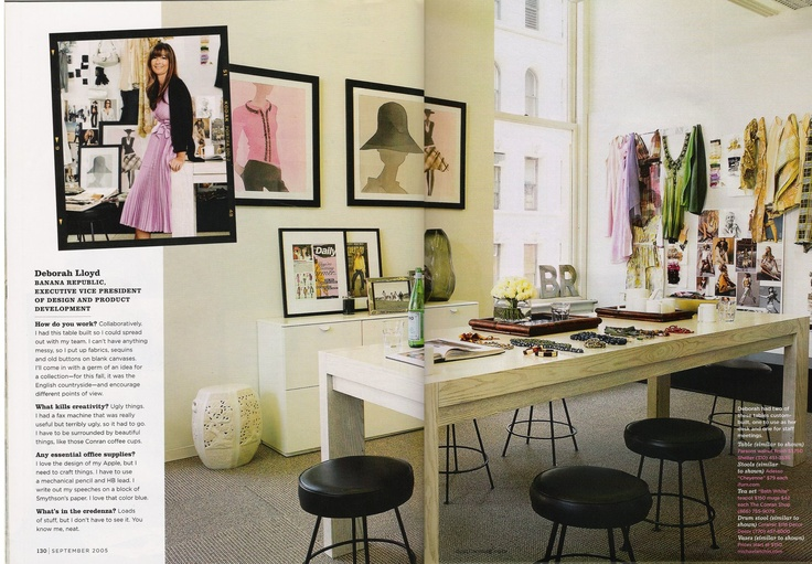 Deborah Lloyd of Banana Republic's Work space