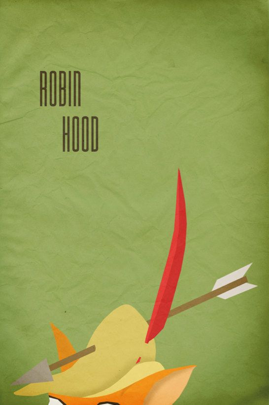 Robin Hood | 28 Minimalist Posters For Your Disney-Themed Nursery