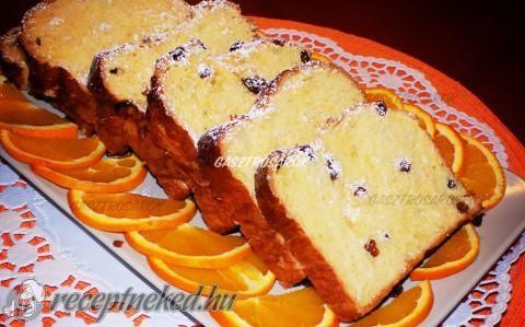 Mazsolás-narancsos kalács recept