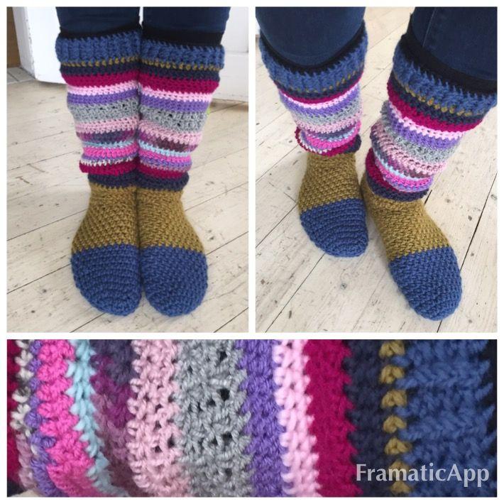 Crochet socks, virkade  sockor