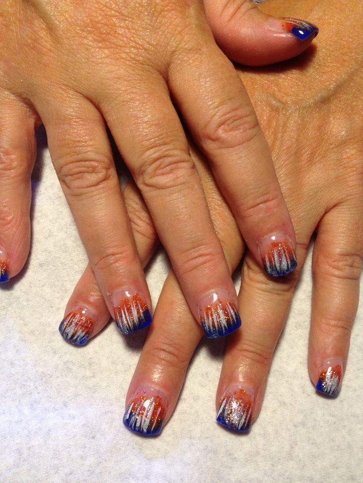 61 best Denver Broncos Nails images on Pinterest   Denver broncos ...