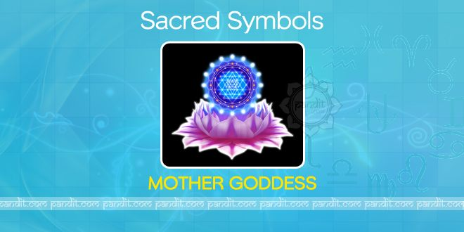 What is Mother Goddess ? by Pandit Rahul Kaushal  -------------------------------------------------------- The Sri Chakra is made up of nine triangles, four upright, representing the male principle and the five inverted triangles representing the female principle.The whole being represents a symbol of their union; it is mother Goddess that is worshipped in the Sri Chakra. http://www.pandit.com/what-is-mother-goddess/
