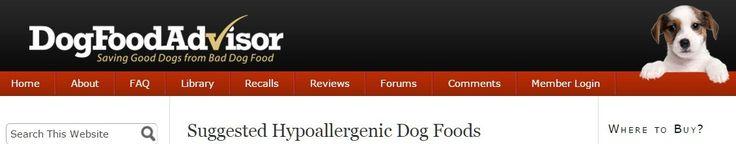 Suggested Hypoallergenic Dog Foods - www.dogfoodadvisor.com