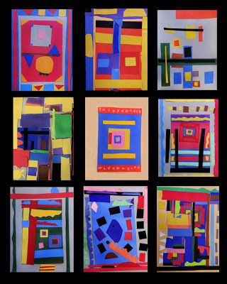 Gees Bend inspired paper quilts