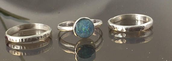 Australian Opal Stacking Ring Opal Jewelry Sterling Silver Natural Gemstone Ring Silver Ring Gift For Female Opal Jewelry Australian Opal Opal Rings