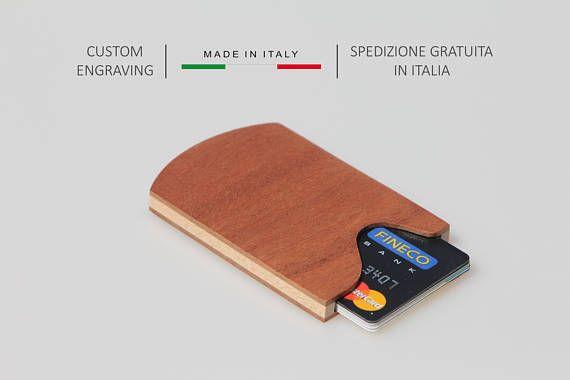 Crédit porte carte, porte monnaie en bois, porte cartes d'affaires
