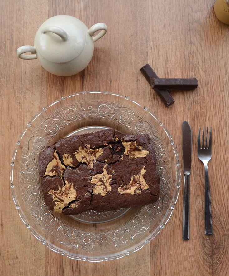 Brownie con mantequilla de cacahuete casera - Departamento de Ideas