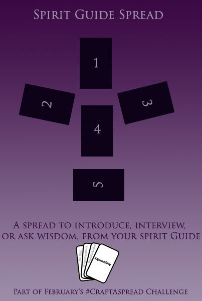 Spirit Guide Spread I developed this spread first for my own use, in an effort to let me communicate with my spirit guide when I was not able to find the peace I needed for proper meditation, and...
