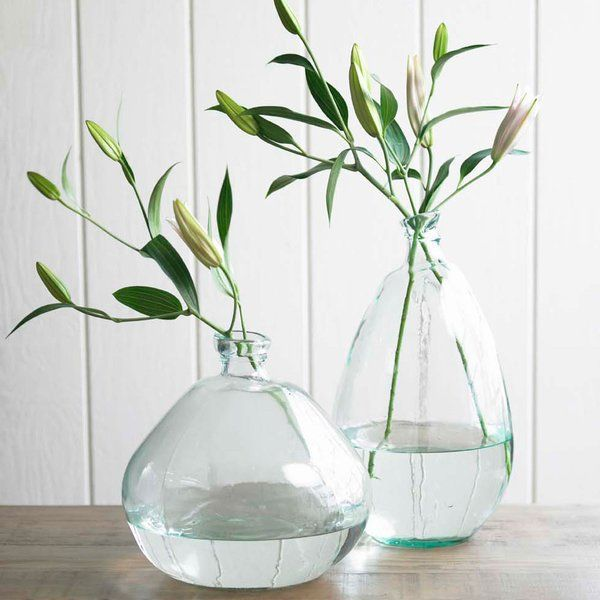 Tall Recycled Glass Balloon Floor Vase Vases Decor Recycled