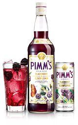 mix 1 part Pimm's Blackberry & Elderflower, 2 parts chilled lemonade, garnish with blackberries