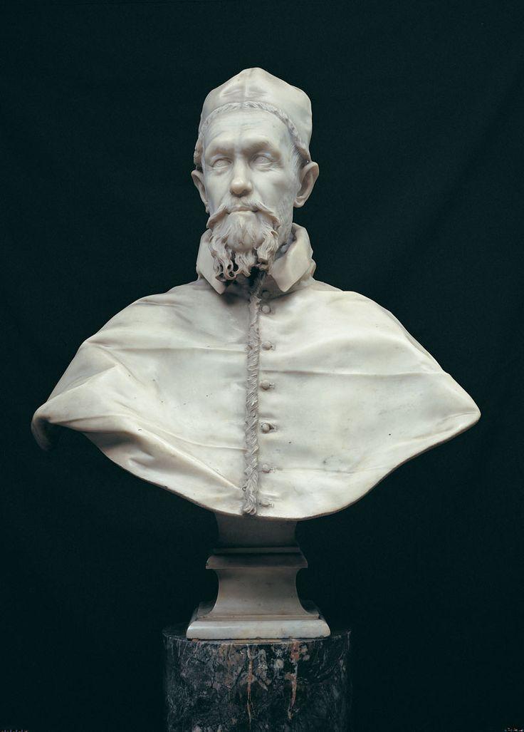 Pope Innocent X, Giovanni- Battista Pamphilj (1574-1655) A direct descendant of Pope Alexander VI, Rodrigo Borgia (1431-1503) great-great-great grandson. Bust by Gian Lorenzo Bernini.
