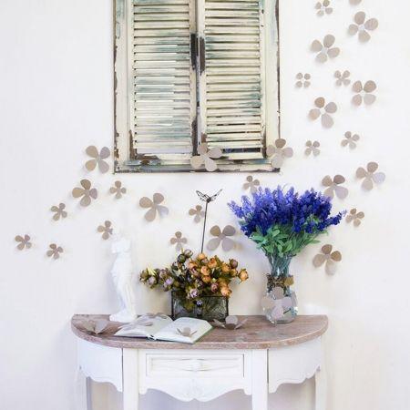 Set di 12 fiori grigi 3D