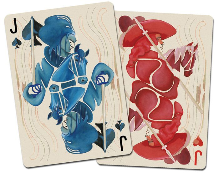 We played poker with tarot cards