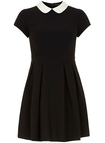 Black/white collar dress - View All New In   - What's New