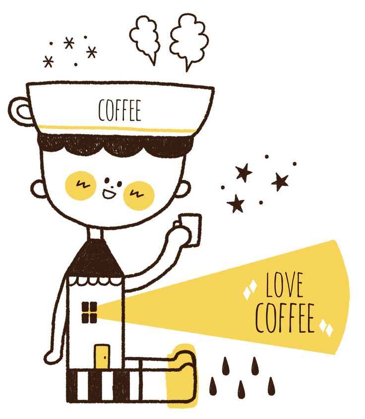 아침엔 모닝커피 한잔??  :  )   #일러스트  #캐릭터  #illust  #character  #coffee  #morningcoffee