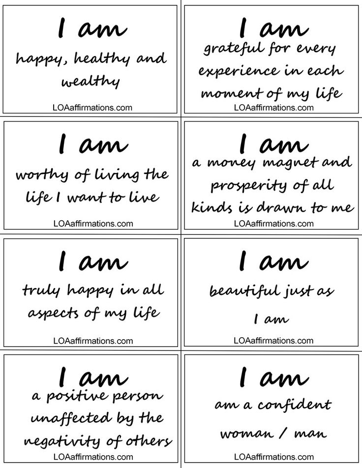 Law of attraction daily affirmations