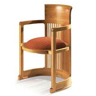 Silla Barril. Frank Lloyd Wright. Imágenes, Dimensiones, Precio, Historia