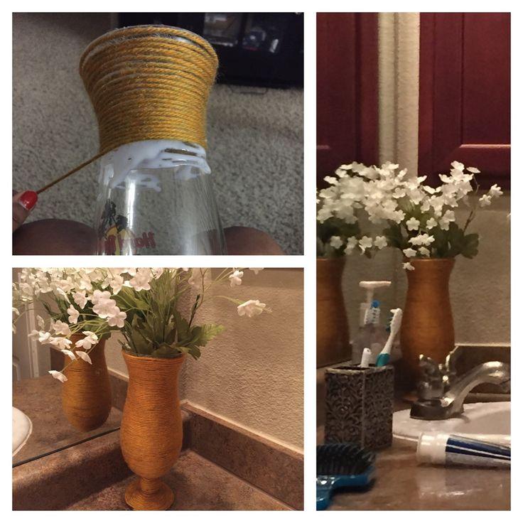 Hardrock cafe glass turned to small vase !! Hope you ppl like it !! Keep pinning !