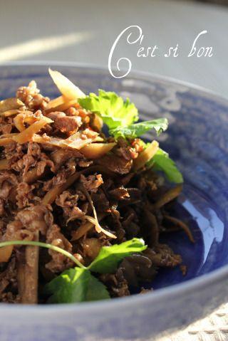 つくれぽ100件♪牛肉とごぼうの煮物 by souffleさん | レシピブログ ... つくれぽ100件♪牛肉とごぼうの煮物