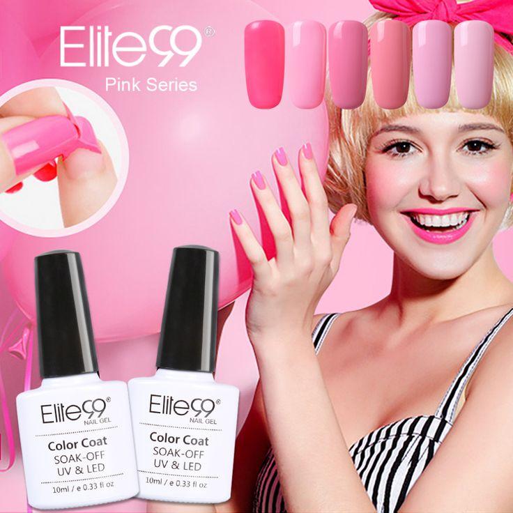 Elite99 UV Gel Nail Polish Gel Nail Polish 10ml Long Lasting UV Gel Colorful Polishes Nair Art Pick 1 Pink Series in 12 Colors