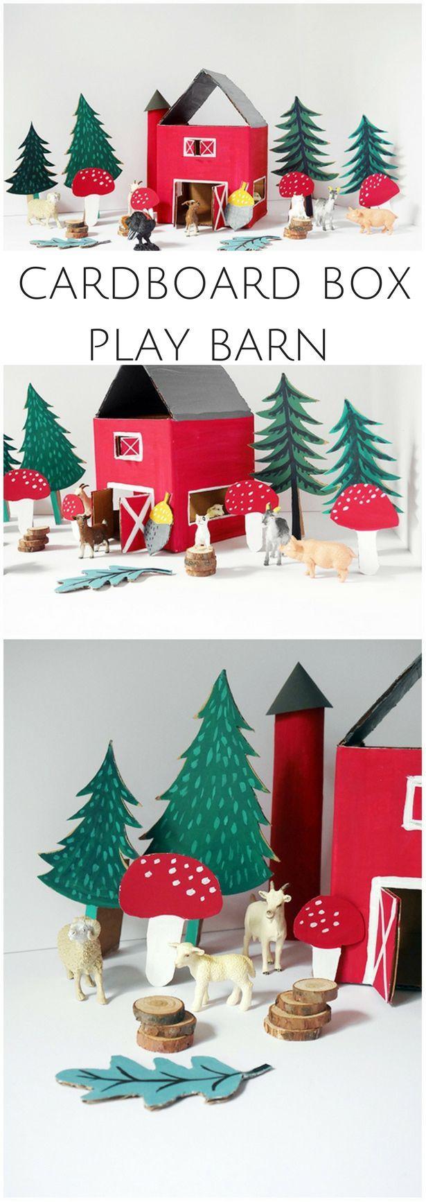 DIY Recycled Cardboard Box Play Barn Create