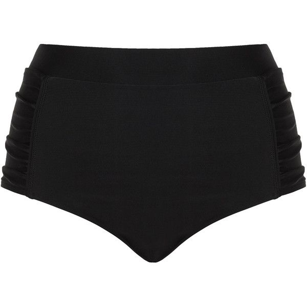 Cactus Black Plus Size Ruched bikini bottoms ($58) ❤ liked on Polyvore featuring swimwear, bikinis, bikini bottoms, black, plus size, plus size beachwear, scrunch bikini bottoms, shiny bikini, womens plus swimwear and plus size two piece