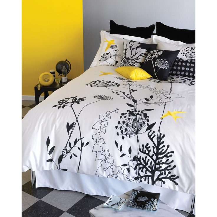 17 Best Images About Black White And Yellow Bedroom On