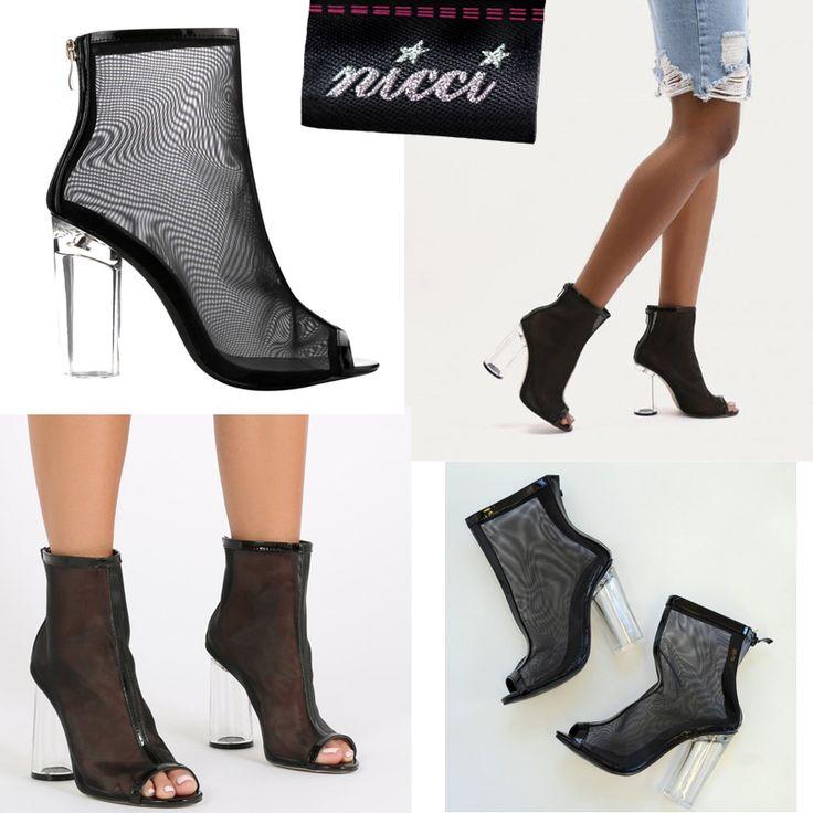 Stunning #mesh #peeptoe boot now at Nicci stores & online!