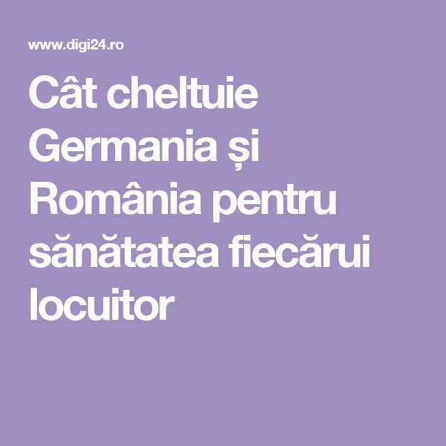 Cât cheltuie Germania și România pentru sănătatea fiecărui locuitor