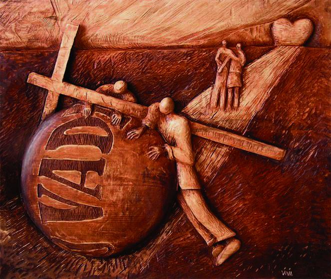 QUO VADIS, lime, 90 x 110 cm / QUO VADIS, lípa, 90 x 110cm / Viva wood art