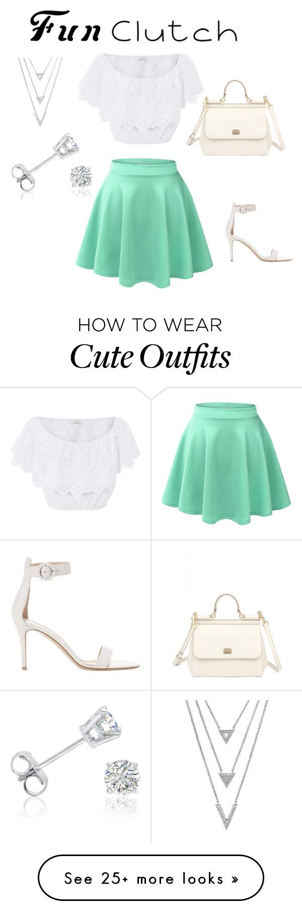 """""""The quick outfit"""" by vickylin070903 on Polyvore featuring Miguelina, LE3NO, Gianvito Rossi, Dolce&Gabbana and Amanda Rose Collection"""